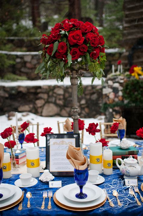 beauty and the beast table decorations navy yellow wedding inspired by beauty the beast