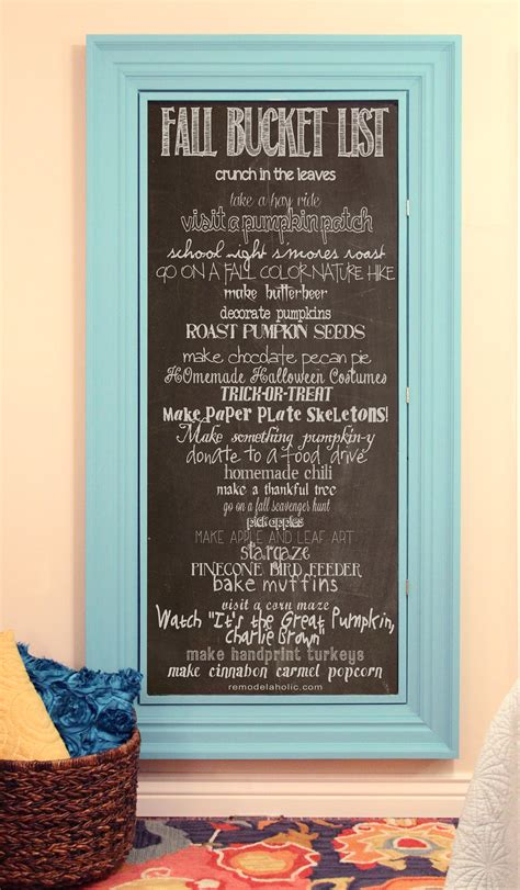 bedroom bucket list remodelaholic fall bucket list chalkboard printable