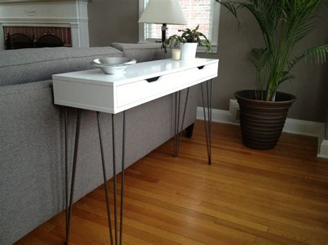 Ikea Hack Console Table | ikea hack ekby alex shelf 26 quot hairpin legs console