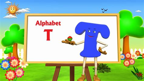 song t letter t song 3d animation learning english alphabet abc
