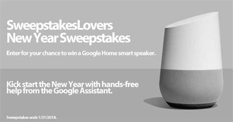Google Sweepstakes - sweepstakeslovers new year sweepstakes