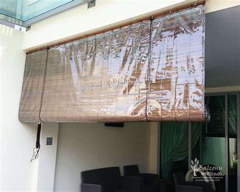 bamboo curtains for balcony balcony outdoor blinds shades gallery balconyblinds
