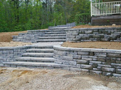 Retaining Block Walls Retaining Wall Portfolio Block Garden Wall