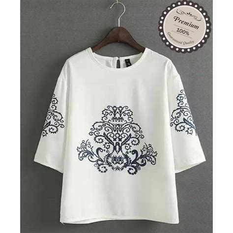 Sasa Blouse Natal Fashion Casual Bagus Murah ayako fashion atasan wanita blouse sasa white yu 1486352492 51007701