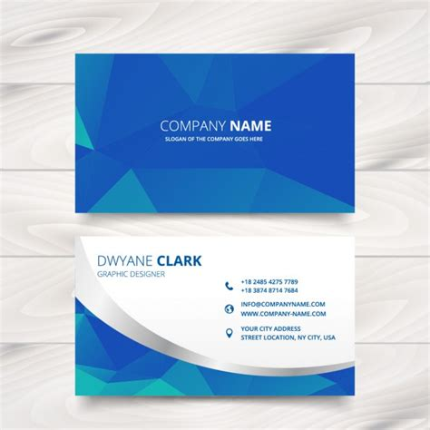 id card design patterns modern business card design in triangle patterns vector