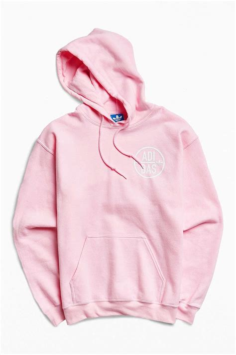 light pink adidas sweatshirt adidas pink hoodie trendy clothes