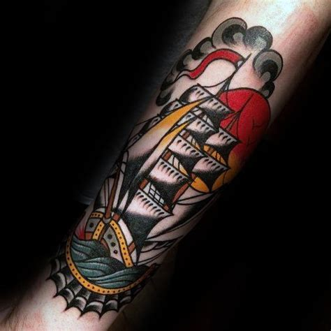 old school ship tattoo designs 60 traditional ship designs for nautical ink