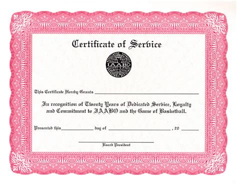Certificate For Years Of Service Template by Certificate Templates