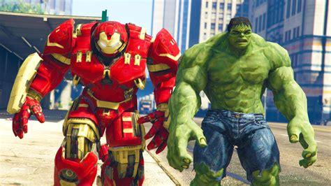 mod gta 5 hulkbuster hulk vs hulkbuster youtube