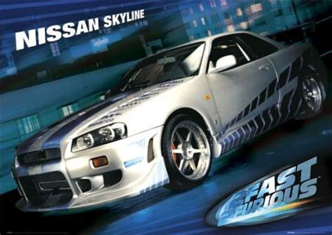 2 fast 2 furious car wallpaper nissan skyline r34 2 fast 2 furious wallpaper