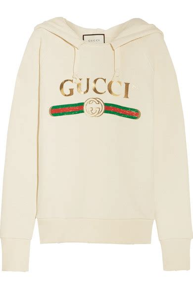 Gucci Top gucci embroidered cotton jersey hooded top net a