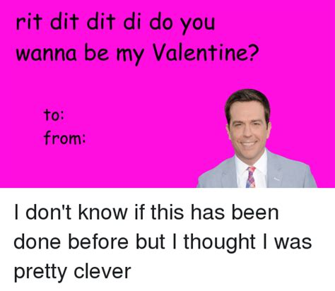 the office valentines day cards rit dit dit di do you wanna be my from i don t if this has been done before but