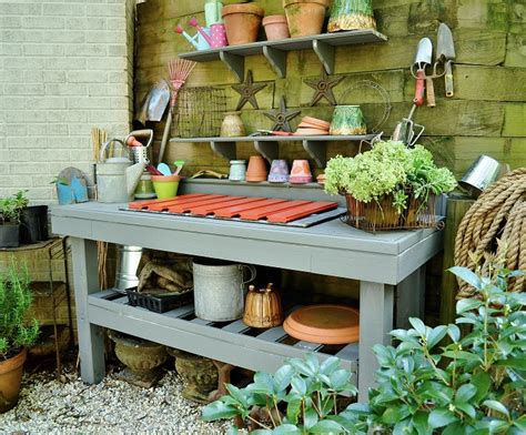 how to build a potting bench how to make a potting bench post 2 of 2 redeem your