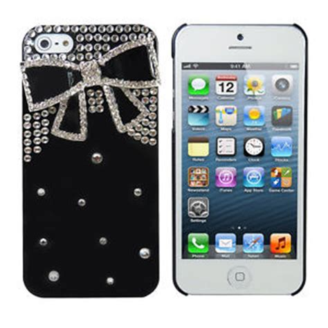 Casing Handphone Iphone 5 5s 3d Bowknot Lucky Cat Kartun Soft Silikon 3d bling design for iphone 5 5s rhinestone bow design ebay