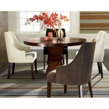 round dining table with armchairs ophelia round brown wooden round dining table and 4 curved