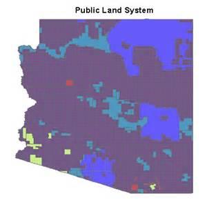 arizona land map arizona refrence maps