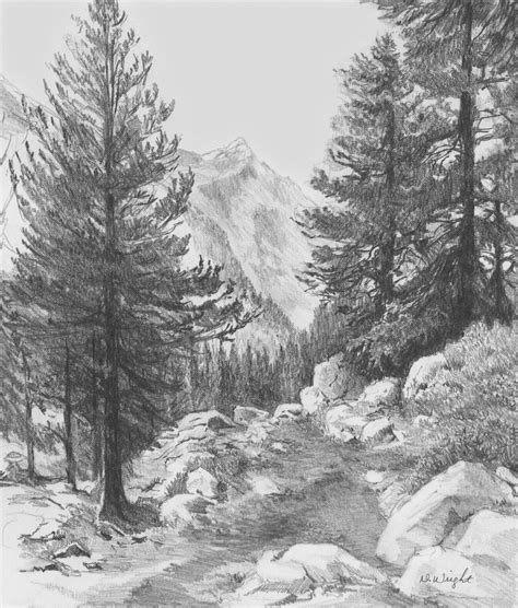 Landscape Drawings In Pencil Re Introducing Pencils Com Landscape Drawing Ideas