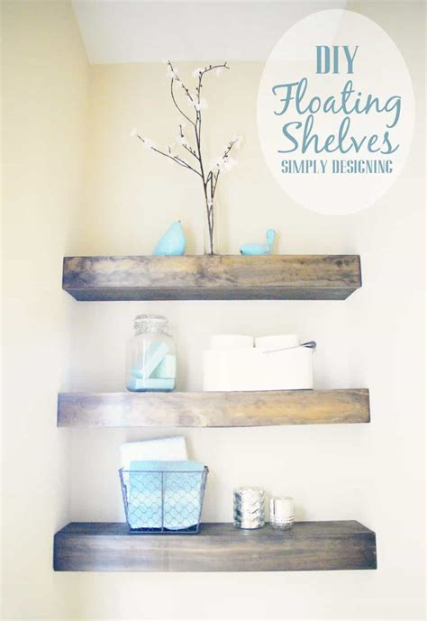 floating bathroom shelf diy floating shelves