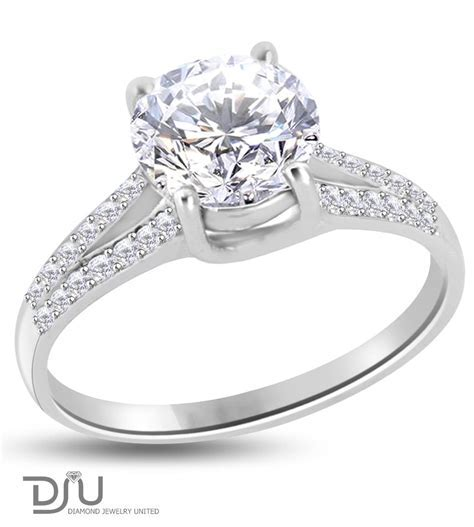 2.29 carat F VS2 Round Solitaire Diamond Engagement Ring