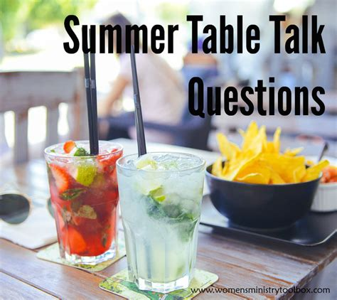 Table Talk Questions by Summer Table Talk Cards S Ministry Toolbox