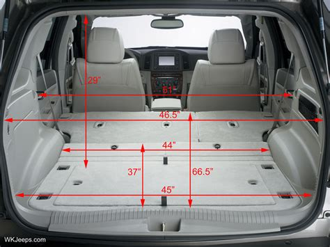 jeep compass interior dimensions jeep grand wk dimensions and specifications