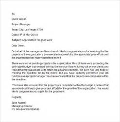 Appreciation Letter On Good Work Sample Appreciation Letter 8 Free Documents Download In