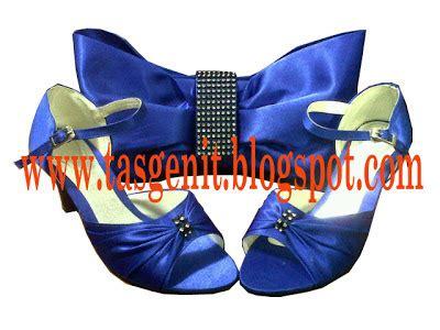 Tas Pesta Clutch Sling Bag Pita tas pesta pita biru laut sepatu pesta biru kode 1104