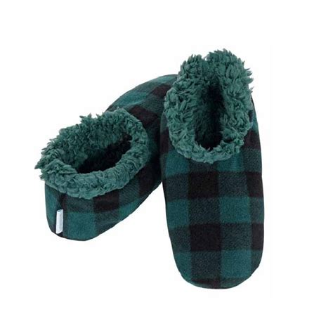 snoozies mens slippers snoozies mens plaid fleece lined slippers ebay