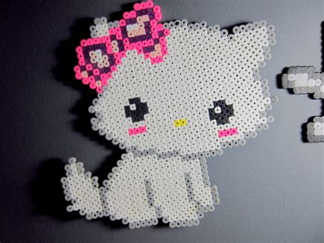 perler bead hello hello perler creation by misskawaiikenzie on deviantart