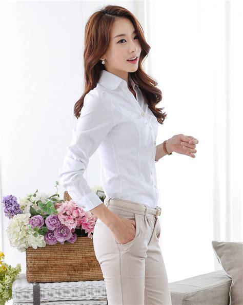 Kemeja Volvo Blue White Diskon kemeja korea wanita bl3097 white tamochi
