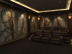 home theater design featuring quot angled curves quot decorative acoustic art panels acoustic panels angled curves