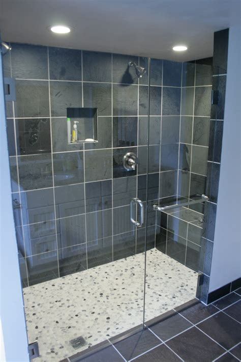 Small Bathroom Designs With Walk In Shower by White Acrylic Surround Jacuzzy Beside Glass Wall Shower