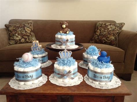 Baby Shower Centerpieces Boy by It S A Boy Baby Shower Centerpieces Bundt Cakes