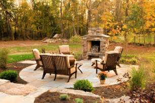 outdoor fireplace designs porch rustic with ceiling fan