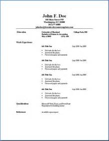 free easy resume template best 25 simple resume template ideas on