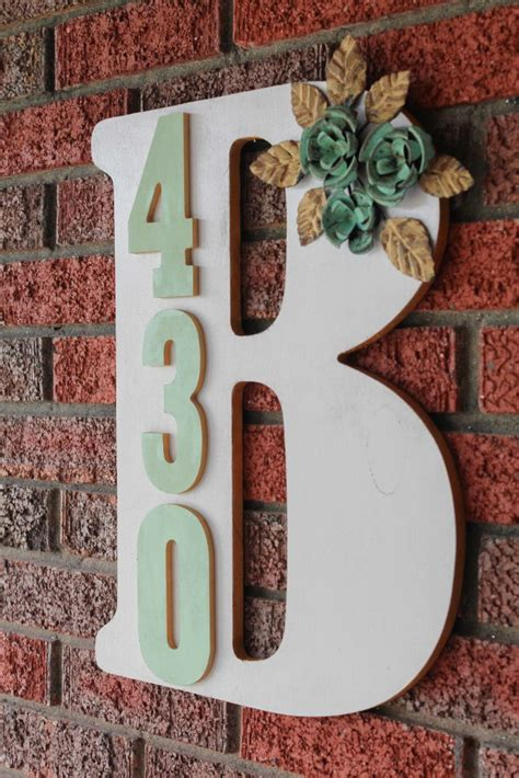 monogram diy projects and functional ways to display house address numbers