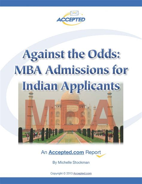 Mba Prerequisites India by Indian Mba Applicants Here Is A Report For You