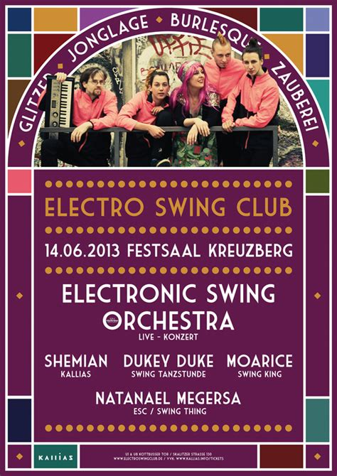electro swing club electro swing club poster flyer on behance