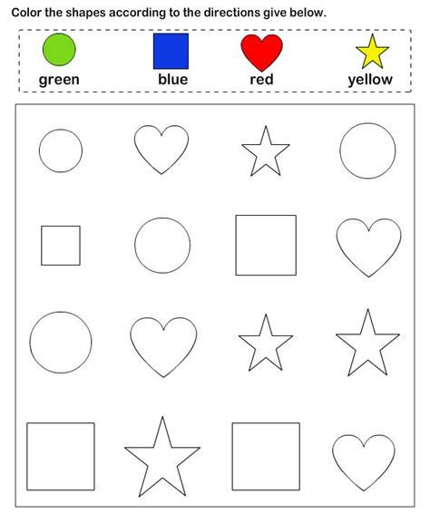 free printable learning shapes 25 best ideas about preschool color activities on