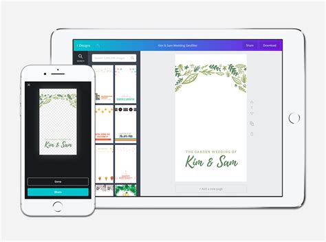 Canva Snapchat Filter | free online snapchat geofilter maker design a custom