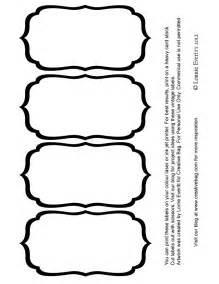 Label Blank Templates by 4 Best Images Of Black And White Printable Label Templates