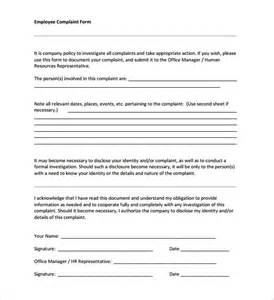 human resources form templates 29 hr complaint forms free sle exle format