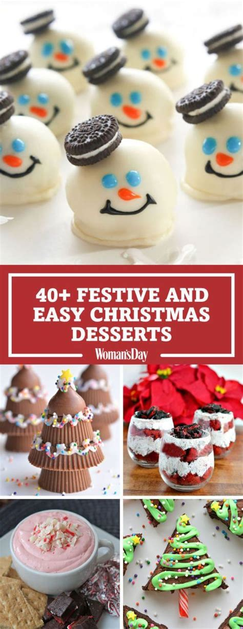 easy christmas desserts 50 deliciously festive christmas desserts cream cookies