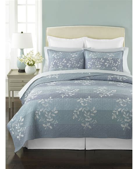 martha stewart collection bedding martha stewart collection silhouette stripe quilts