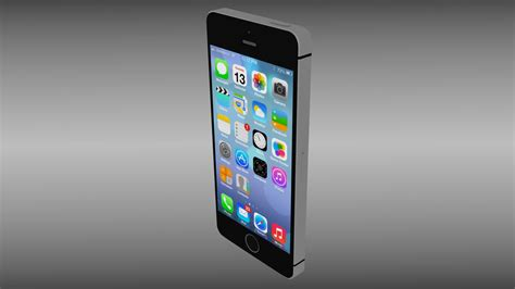 3d Ipgone 5 iphone 5s black 3d model obj blend cgtrader