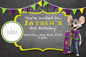 free printable chuck e cheese birthday invitations