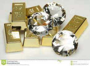 Gold bars and diamonds stock photo image 20901190