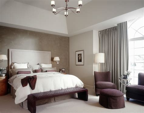 accent wall bedroom ideas accent wall ideas bedroom transitional with drapes chandelier