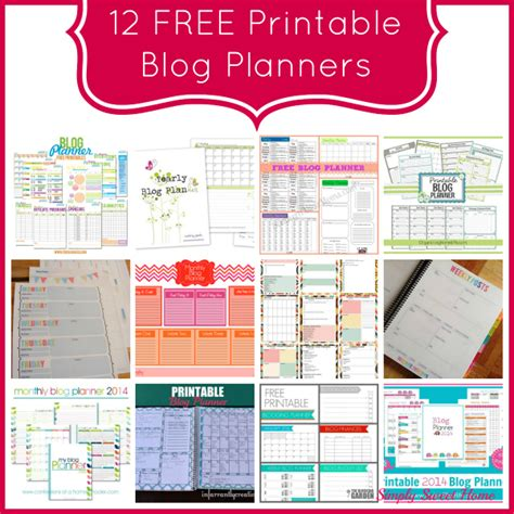 the sweet life printable planner 12 free printable blog planners simply sweet home