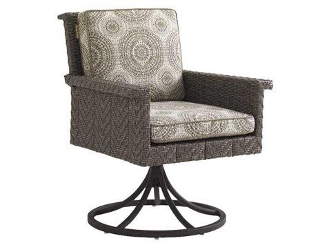 Tommy Bahama Outdoor Blue Olive Wicker Swivel Rocker Wicker Swivel Rocker Chair